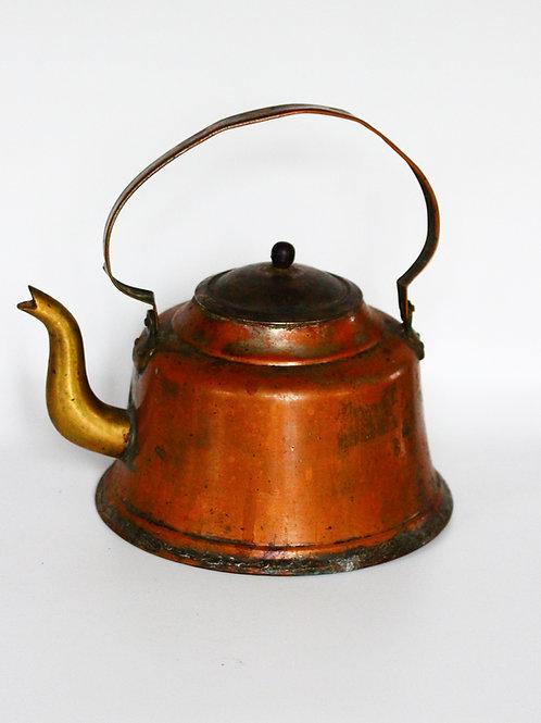 Antika Bakır - Pirinç Demlik