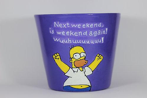 Boyalı Saksı - Homer Simpson