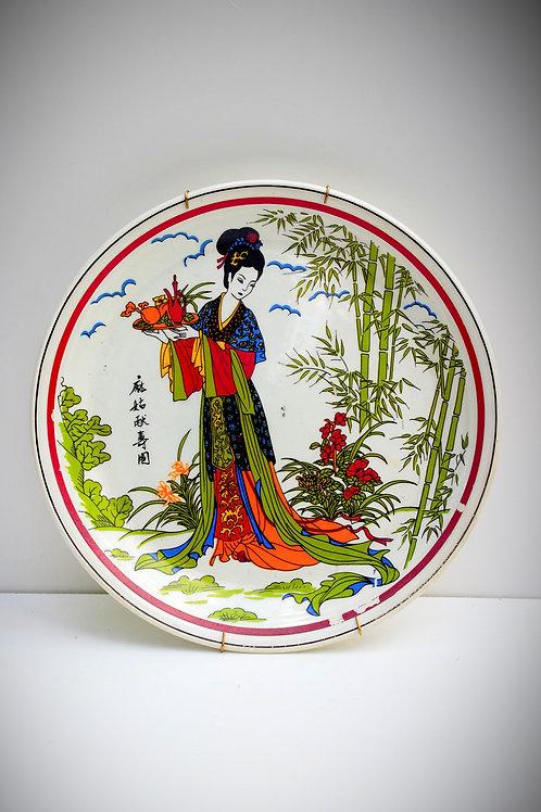 Dönem Japon Duvar Tabağı