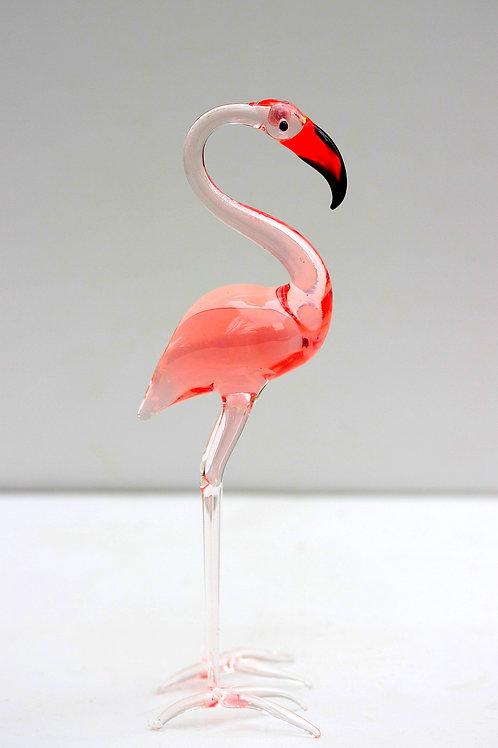İtalyan Murano minyatür Flamingo