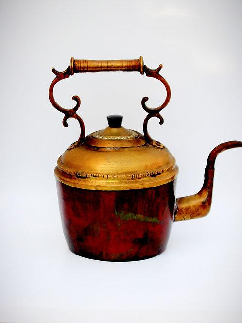 1800 lerden Fransız Bakır - Pirinç Kettle