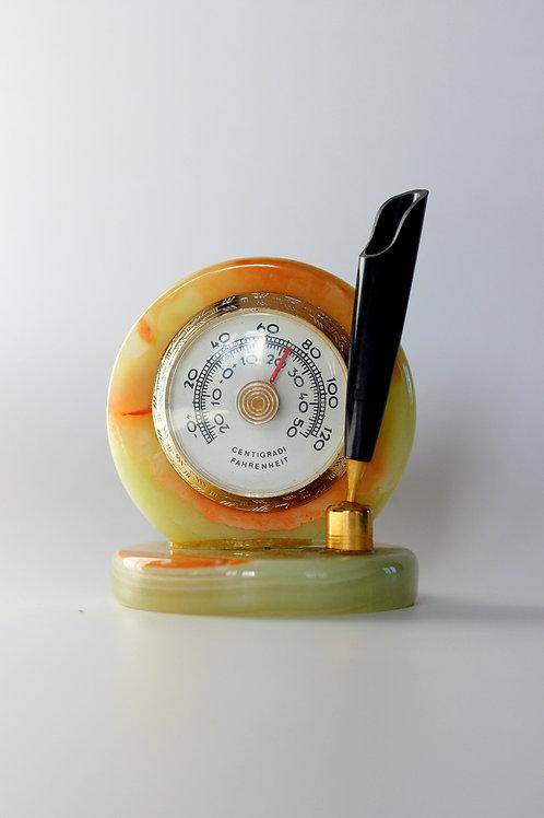 Dönem İtalyan Mermer Kalemlik - Termometre