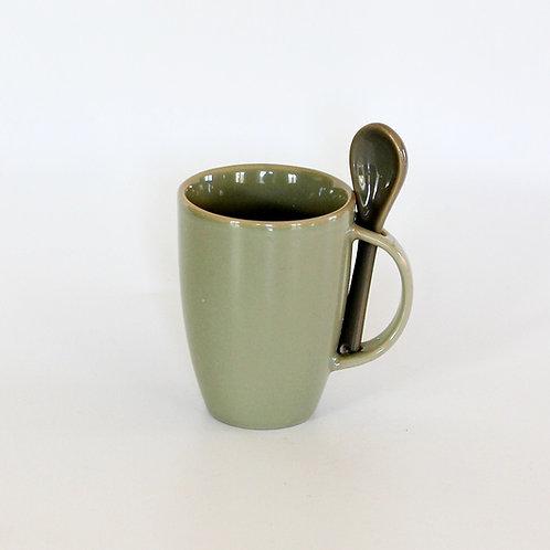Alman Porselen Kupa ve Kaşığı
