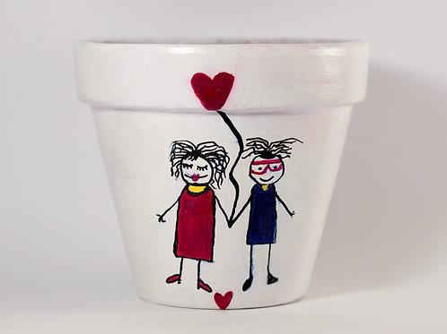 Boyalı Saksı -Couple in Love