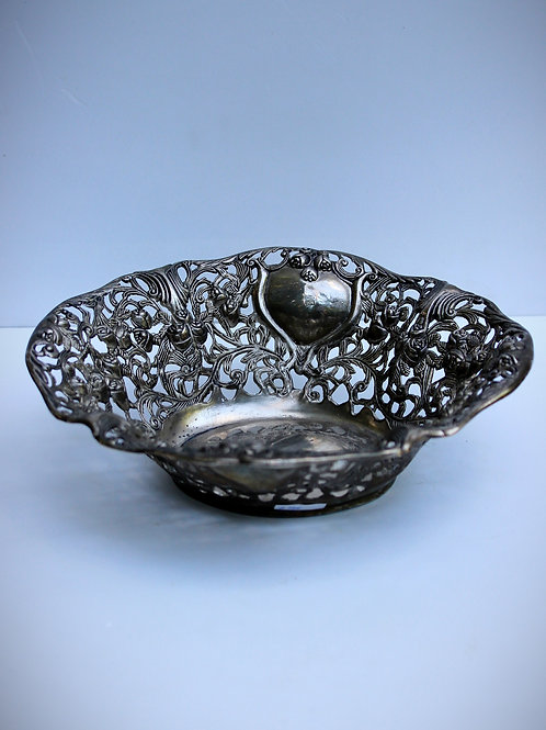 Dönem Gümüş kaplama Meyve Sepeti