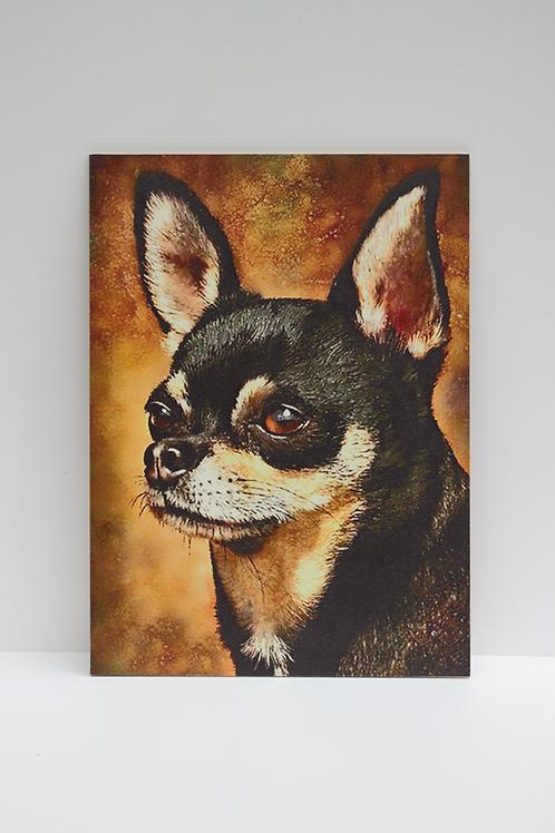 Vintage portre - Köpek küçük