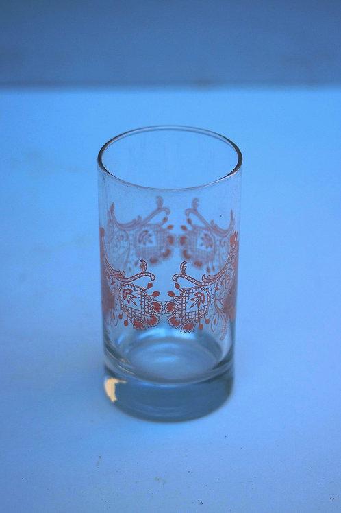 Fransız desenli cam bardak