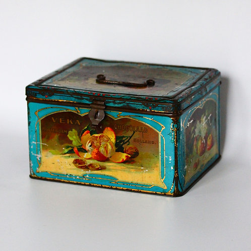Antika Hollanda Çikolata Kutusu