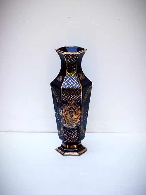 Dönem Kobalt Porselen Vazo