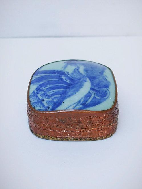 Bakır - Porselen Mücevher Kutusu