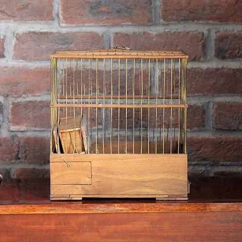 Ahşap Vintage Kuş Kafesi