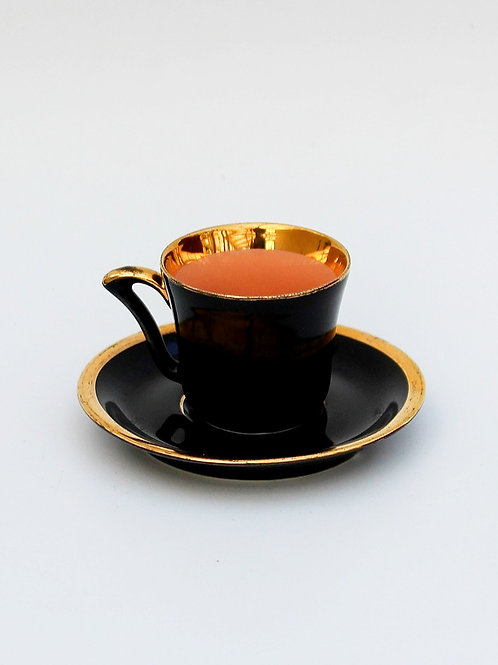 Fransız Siyah Porselen Fincan