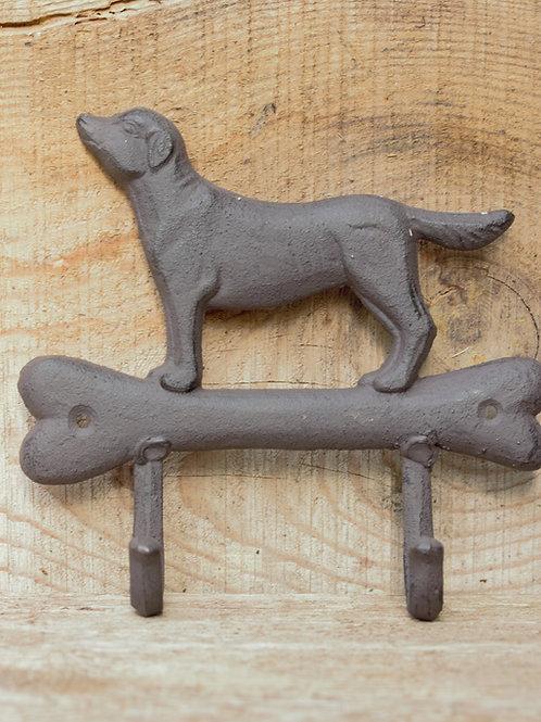 Köpek ve kemik figürlü Askı