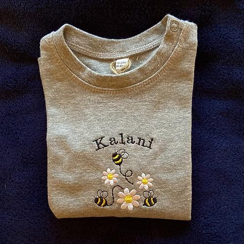 Long Sleeve Bumbles and Daisies T-shirt
