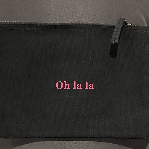 'Oh La La' canvas accessory pouch small size