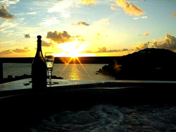 Andante by the Sea Hot Tub Sunset