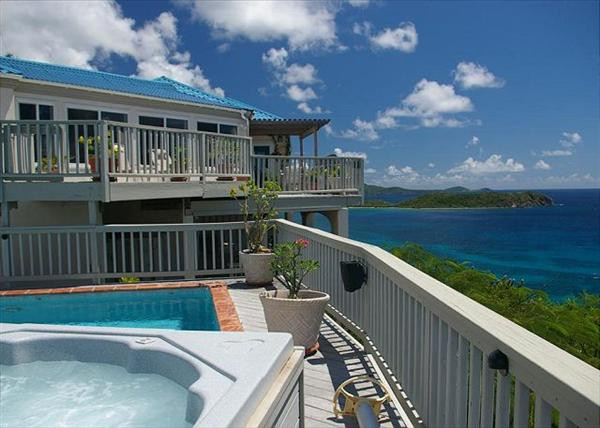 Andante by the Sea Villa Pool Deck Hot Tub View