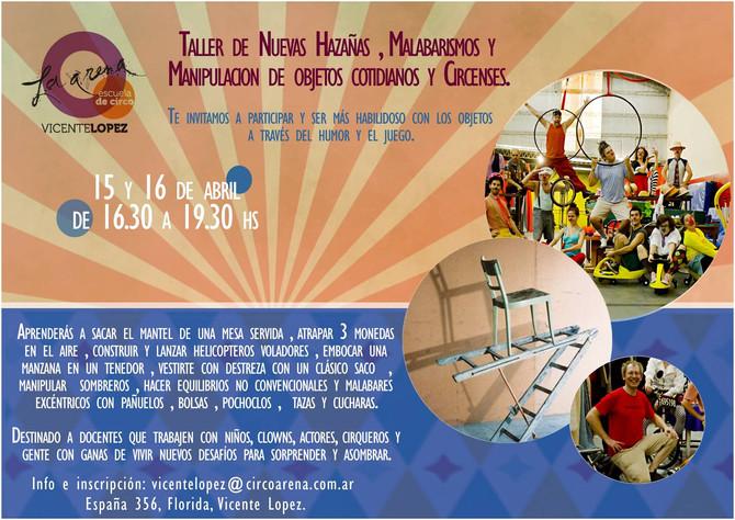 Nuevo Seminario de Hazañas!!!! en La Arena Vicente lopez. info e inscripción: diegolejtman10@gmail.c