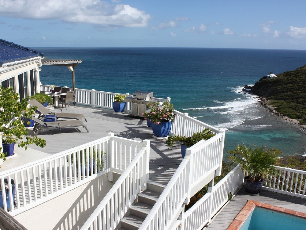 Andante by the Sea Tiered Decks Overlooking Cruz Bay