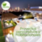 Proyectos con plantas para corporaivos, terrazas exteriores y plantas de interior