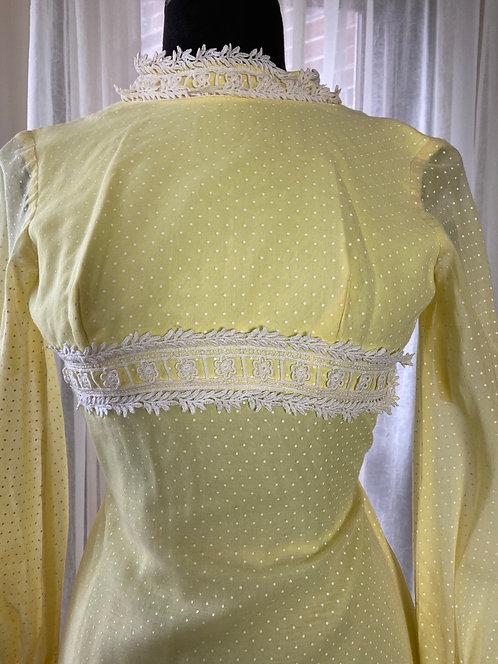 Sylvia Ann - Lemon yellow Swiss dot Maxi