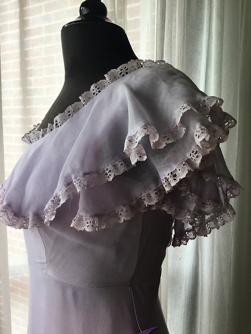 1970s JC Penny - Lilac A-Line Formal