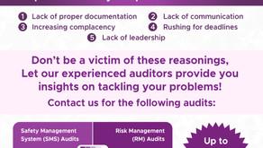 Top 5 reasons why companies fail their audits!