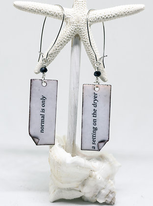 """Written Word"" Earrings - Normal"