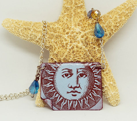 Sunshine & blue skies necklace