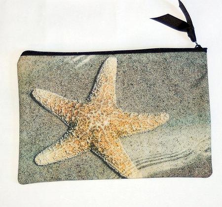 Large Zip Clutch Sea Star