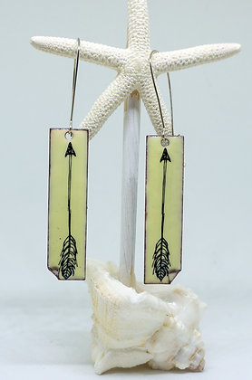 Earrings - Lemon Yellow Arrows