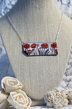 Hand-painted jewelry - Poppy Large