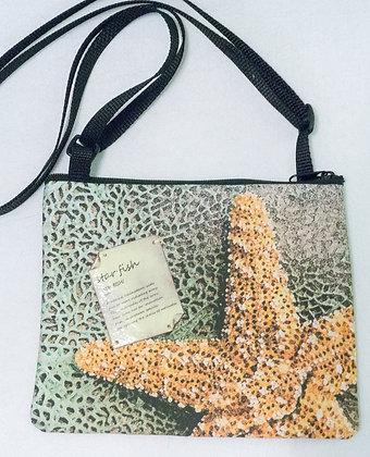 Small cross-body art purse - Starfish
