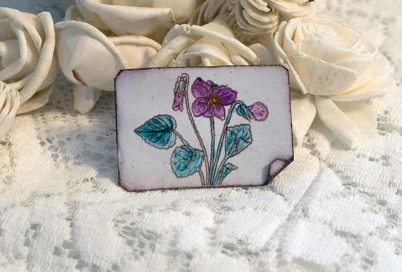 Hand-painted jewelry- Violet Pin