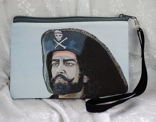Pirate Wristlet/Cosmetic bag