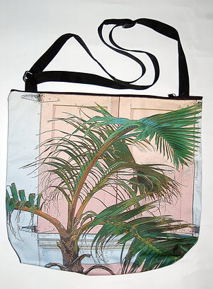 X-large Pink Shutters and Palms Bag
