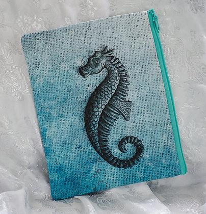 Seahorse Wristlet/cosmetic bag