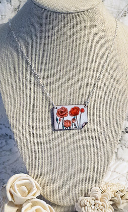 Hand-painted jewelry - Poppy/2-Med.