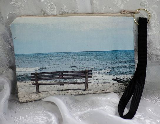 Bench with a View Wristlet/Cosmetic bag
