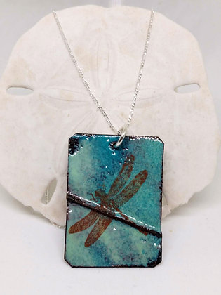 Blue/green Dragonfly Pendant