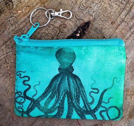 Aqua Octopus Mini Clutch