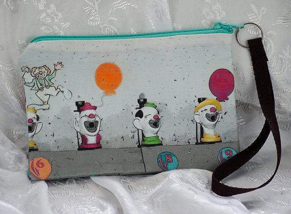 Clown Game Wristley/Cosmetic Bag