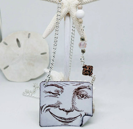 A Wink & A Smile Enameled Necklace