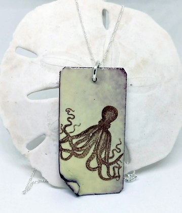 Pale Yellow Octopus Pendant