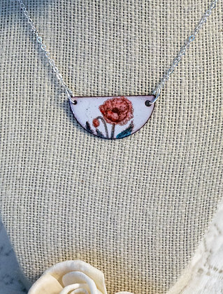 Hand-painted jewelry - Poppy Small