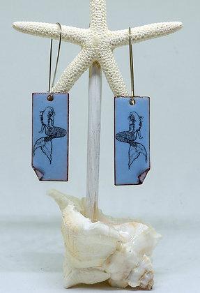 Earrings - Blue Mermaid