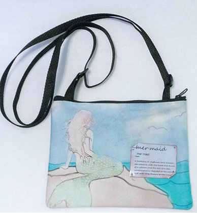 Small cross-body art purse - Mermaid