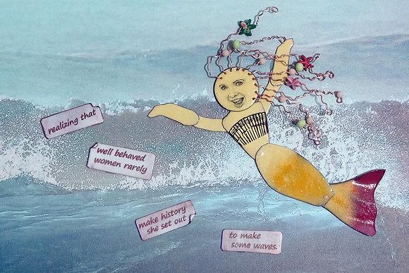 """Mixed media art - """"Make waves"""""""