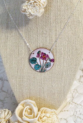 Hand-painted Jewelry - Violet Round