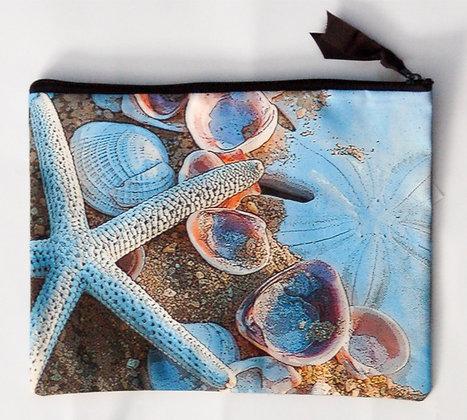 Large Zip Clutch Shell Treasures